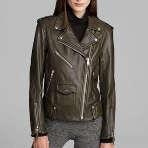 Theory Dalayan Leather Motorcycle Biker Jacket
